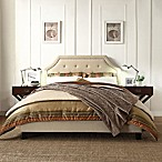 Verona Home Ainslie Button Tufted Queen Platform Bed in Oatmeal