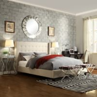 Verona Home Kensington Wingback Full Bed in Oatmeal