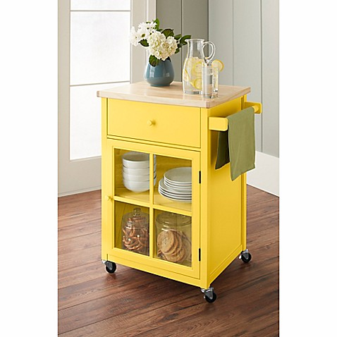 baldwin kitchen cart in yellow the chatham house baldwin kitchen cart