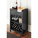 Chatham House Baldwin Wine Cabinet in Black