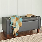Chatham House Streeter Storage Bench in Grey