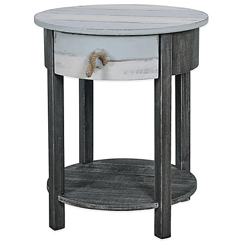 lakeshore accent side table in blue grey bed bath beyond