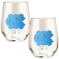 University of North Carolina Stemless Wine Glass (Set of 2)