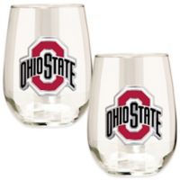 Ohio State University Stemless Wine Glass (Set of 2)