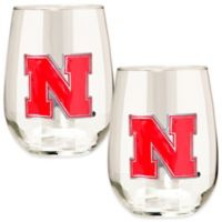 University of Nebraska Stemless Wine Glass (Set of 2)