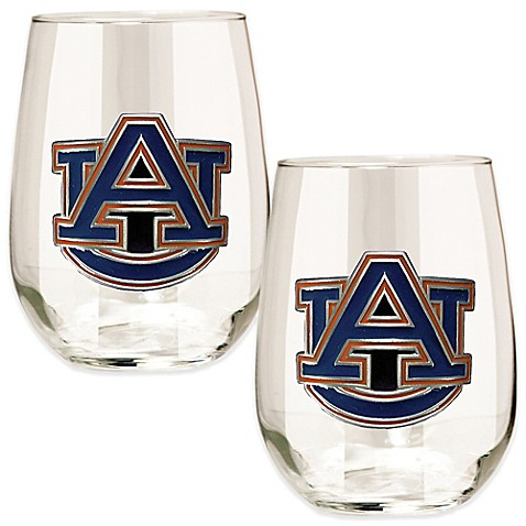 Auburn University Stemless Wine Glass (Set of 2) - Bed Bath & Beyond