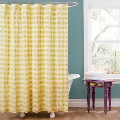 buy yellow shower curtain from bed bath beyond. Black Bedroom Furniture Sets. Home Design Ideas