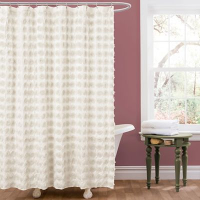 High Quality Emma Shower Curtain In Ivory