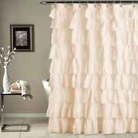 Ruffle Shower Curtain in Ivory