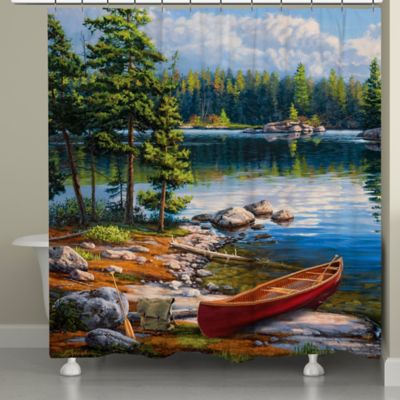 Perfect Laural Home® Blue Water Bay Shower Curtain