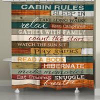 Laural HomeR Cabin Rules Shower Curtain