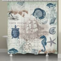 Laural Home® Seaside Postcard Shower Curtain