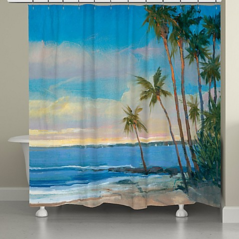 Laural Home 174 Tropical Breeze Shower Curtain Bed Bath