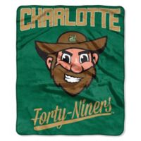 NCAA University of North Carolina at Charlotte Super-Plush Raschel Throw Blanket