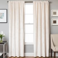 Velvet Rod Pocket/Back Tab 84-Inch Lined Window Curtain Panel in Pearl