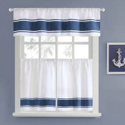 Curtains Ideas 36 inch cafe curtains : Buy Blue Kitchen Curtains from Bed Bath & Beyond