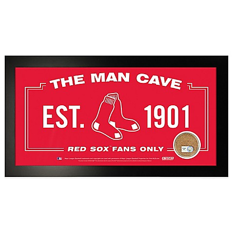 MLB Boston Red Sox Framed Man Cave Sign - Bed Bath & Beyond