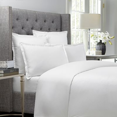 wamsutta dot twin duvet cover in white