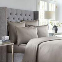 Wamsutta® 620-Thread-Count Stripe Twin Duvet Cover in Silver