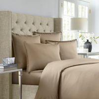 Wamsutta® 620-Thread-Count Stripe Twin Duvet Cover in Canvas
