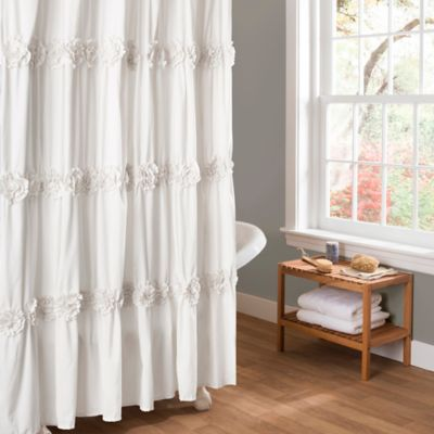 Buy White Ruffle Curtains from Bed Bath & Beyond