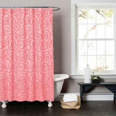 Stella Shower Curtain In Pink