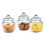 Home Basics® Glass 17 oz. Canisters (Set of 3)