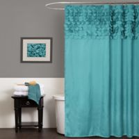 Lillian Shower Curtain in Turquoise
