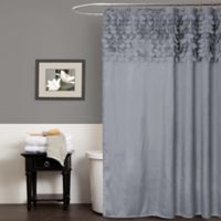 Lillian Shower Curtain in Grey