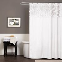 Lillian Shower Curtain in White