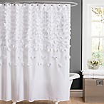 Lucia Shower Curtain in White