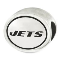Sterling Silver NFL New York Jets Antiqued Charm Bead