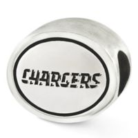 Sterling Silver NFL San Diego Chargers Antiqued Charm Bead