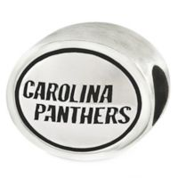 Sterling Silver NFL Carolina Panthers Antiqued Charm Bead