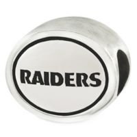 Sterling Silver NFL Oakland Raiders Antiqued Charm Bead