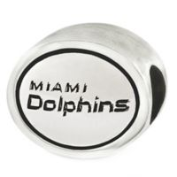 Sterling Silver NFL Miami Dolphins Antiqued Charm Bead