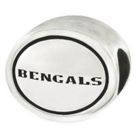 Sterling Silver NFL Cincinnati Bengals Antiqued Charm Bead