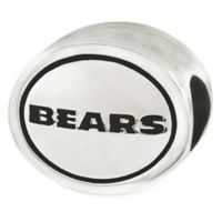 Sterling Silver NFL Chicago Bears Antiqued Charm Bead