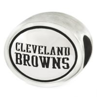 Sterling Silver NFL Cleveland Browns Antiqued Charm Bead