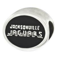 Sterling Silver NFL Jacksonville Jaguars Enameled Bead