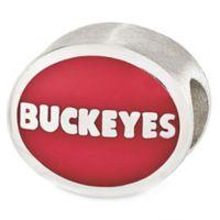Sterling Silver Collegiate Ohio State University Buckeyes Enameled Charm Bead