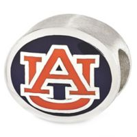 Sterling Silver Collegiate Auburn University Enameled Charm Bead