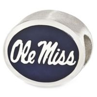 Sterling Silver Collegiate University of Mississippi Ole Miss Enameled Charm Bead