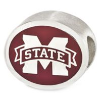 Sterling Silver Collegiate Mississippi State University Enameled Charm Bead