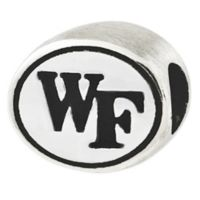 Sterling Silver Collegiate Wake Forest University Antiqued Charm Bead