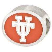 Sterling Silver Collegiate University of Texas Orange Enameled Charm Bead