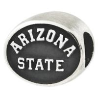 Sterling Silver Collegiate Arizona State University Antiqued Charm Bead