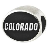 Sterling Silver Collegiate University of Colorado Antiqued Charm Bead