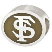 Sterling Silver Collegiate Florida State University Golden Enameled Charm Bead