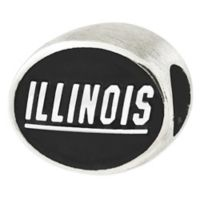 Sterling Silver Collegiate University of Illinois Antiqued Charm Bead